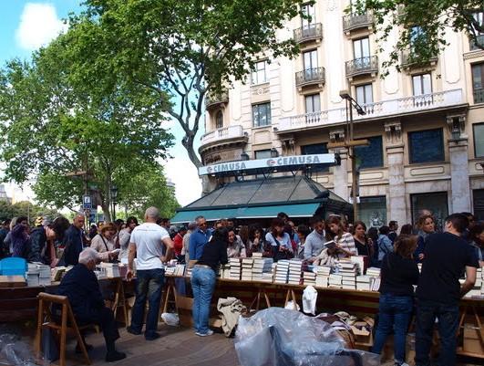 Ramblas-Barcelona-Book-day-día-internacional-del-libro