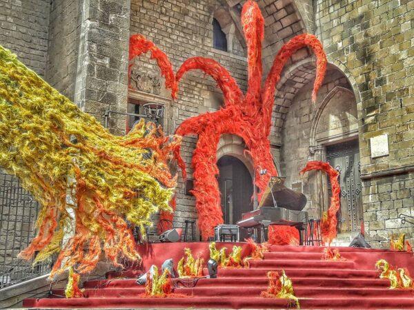 Plaça del rei Sant Jordi Barcelona