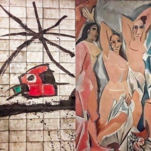 A star chasing a Demoiselle Miró & Picasso private tour