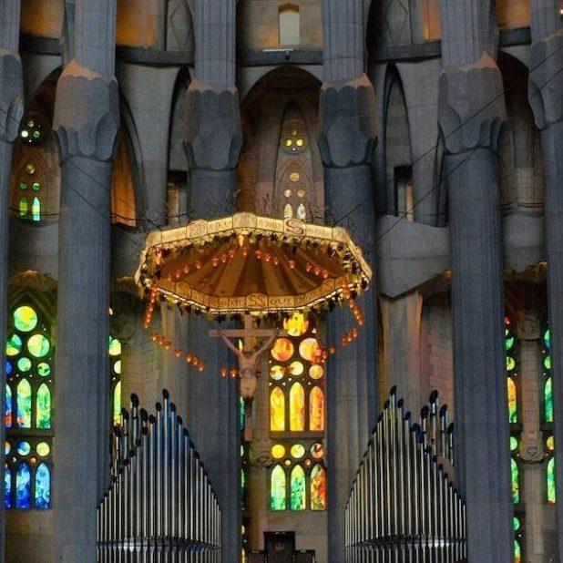 mass at Sagrada Familia