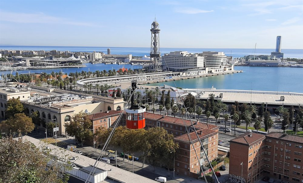 Cablecar Barcelona with kids