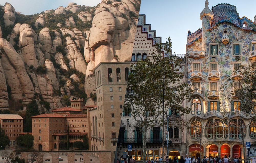Montserrat y Barcelona visita