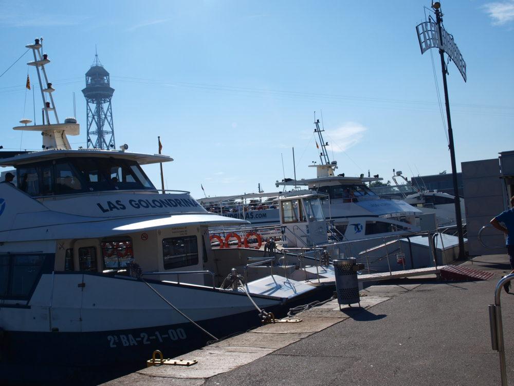 promenade bateau golondrinas Barcelone
