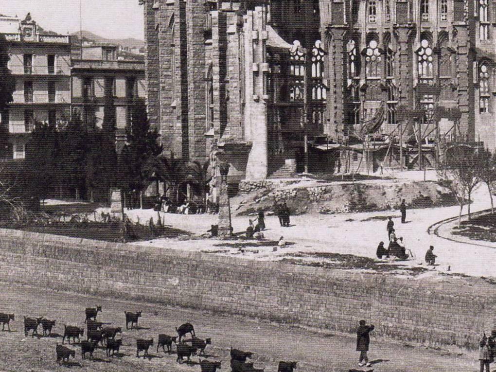 Sagrada Familia en construction Barcelone