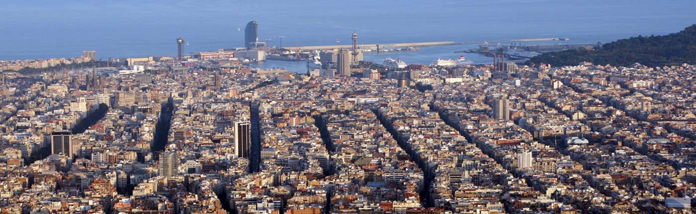 barcelona sky line
